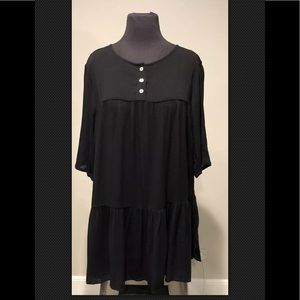 Soft Surroundings lagenlook tunic black Sz small